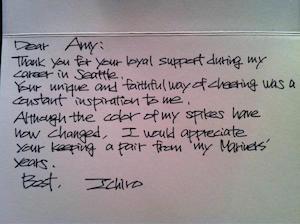 メジャーちょっといい話 全米を感動させた「イチローの手紙」