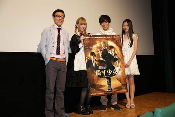 SKE48・佐藤すみれ、小野賢章劇中が劇中衣装そのままで初日舞台挨拶