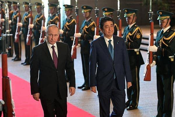 『安倍首相とプーチン大統領(ロシア大統領府のサイトより)』