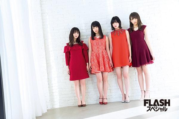 欅坂46 、けやき坂46を牽引する4人のクローズアップグラビア!