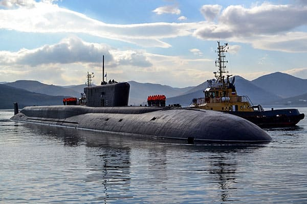 『カムチャッカの原子力潜水艦。写真:ロシア国防省』