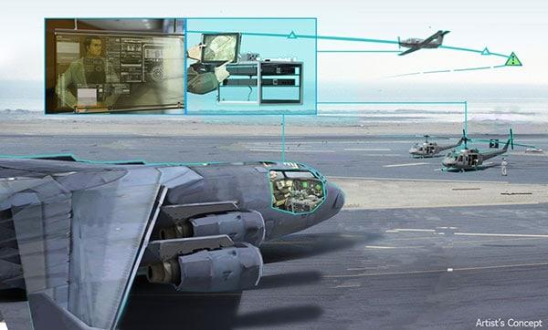 『ロボット操縦のイメージ図。写真:DARPA』