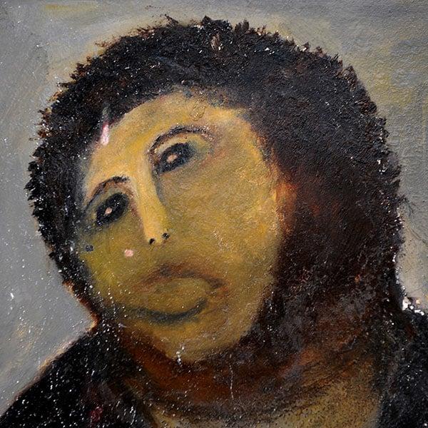 スペインの教会の壁画 キリスト