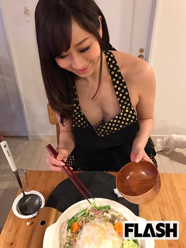 【美熟女のマイ鍋レシピ】川上ゆうの「ミルフィーユみぞれ鍋」