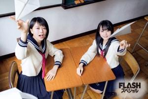 公式音ゲーTeam 8部門優勝 坂口渚沙×早坂つむぎグラビア