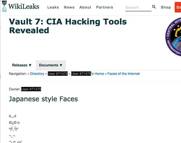 CIAの「顔文字コレクション」をウィキリークスが暴露