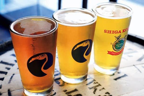 『おすすめIPA(左からファイアーストーンウォーカー「ユニオンジャック」「イージージャック」、志賀高原ビール「其の十」)』