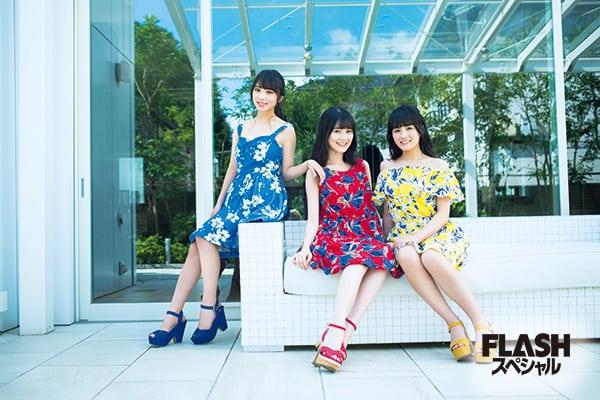 18thシングル Wセンターの期待の3期生2人が生田先輩と初めてのグラビア共演!