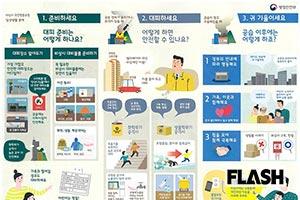 やる気なし「韓国ミサイル防空訓練」の待避マニュアルを入手