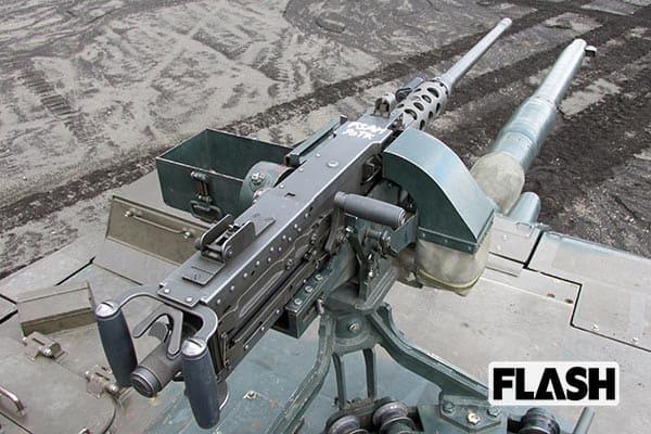 『戦車に乗せられた機関銃』