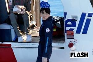 新垣結衣『コードブルー』ロケ中に「頭に氷」のキュート姿