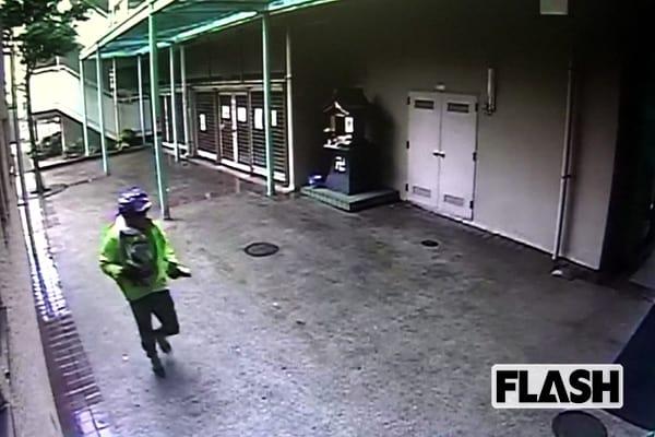 防犯カメラに映った犯人と思われる映像