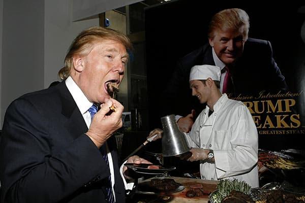 肉が大好きトランプ大統領「マクドナルド」のCMにも出てた