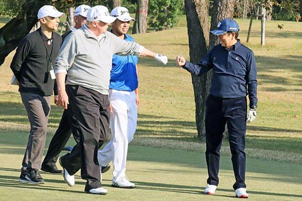 トランプ大統領vs.安倍首相それぞれの「ゴルフ」の腕前