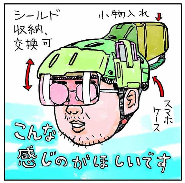 クロスバイクに乗りはじめた「吉田戦車」自転車用ヘルメットを買う