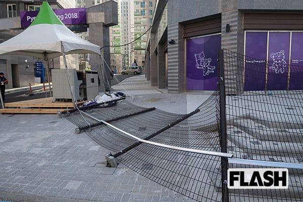 写写丸が見た「平昌五輪」毎日台風状態でメディア村も倒壊寸前