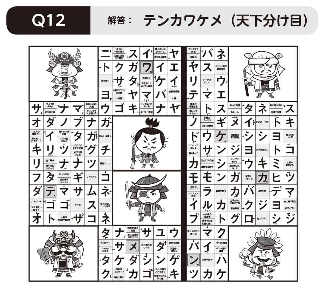 パズルきぶん Vol.3】Q12 戦国時...