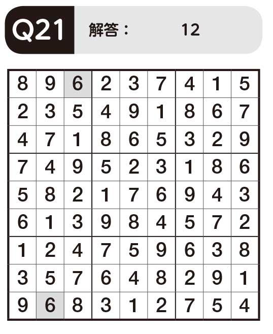 【パズルきぶん Vol.3】Q21ノーマルナンプレ3