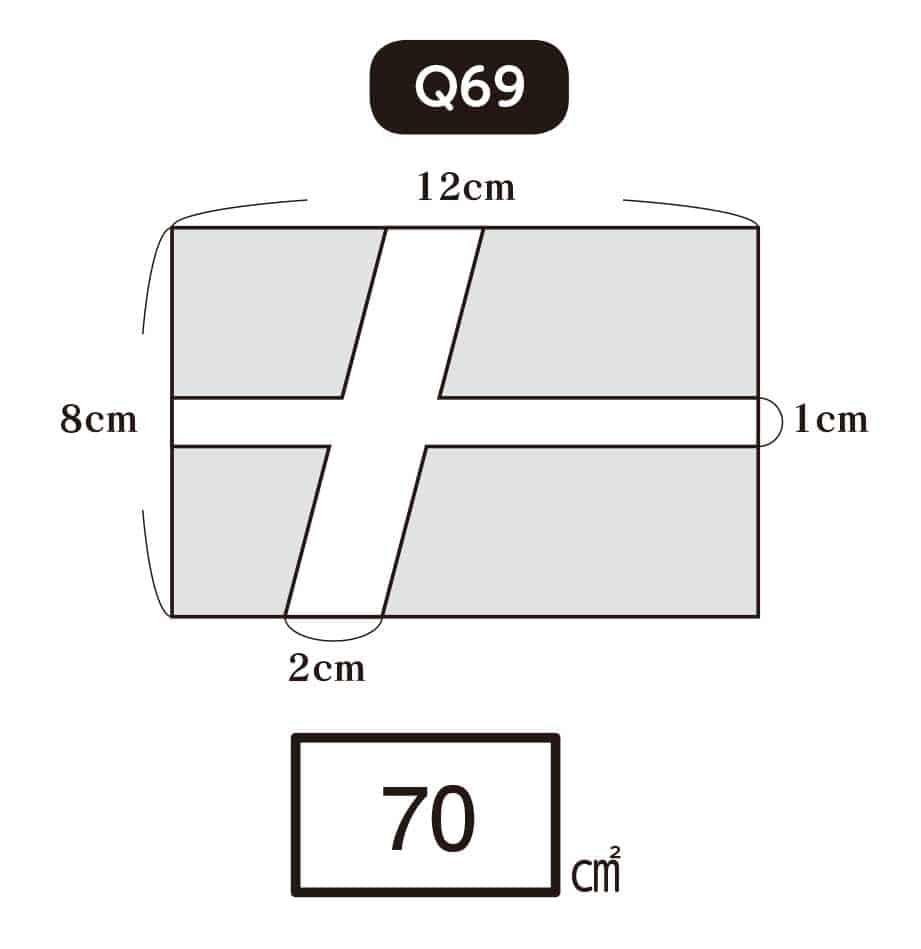 【パズルきぶん Vol.3】Q69 懐かしい学校の問題「面積問題」1