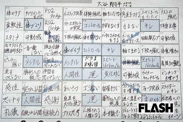 大谷翔平「目標設定シート」に記された「運の引き寄せ」思考