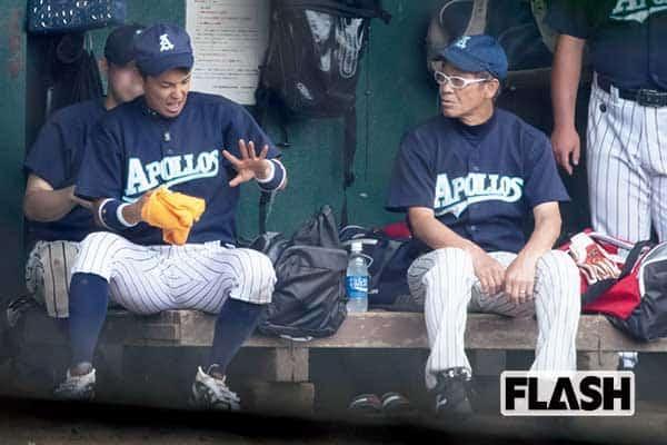 清水アキラ覚せい剤で逮捕された三男とのんびり草野球