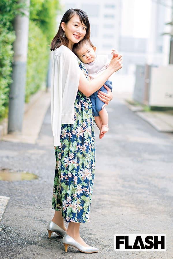 元フジテレビ「大島由香里アナ」週1回は母子スイミング