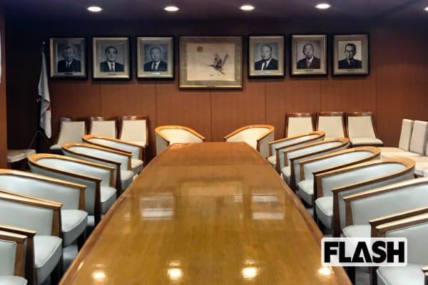 自民党本部に潜入撮「総裁応接室」には歴代総裁の写真がズラリ