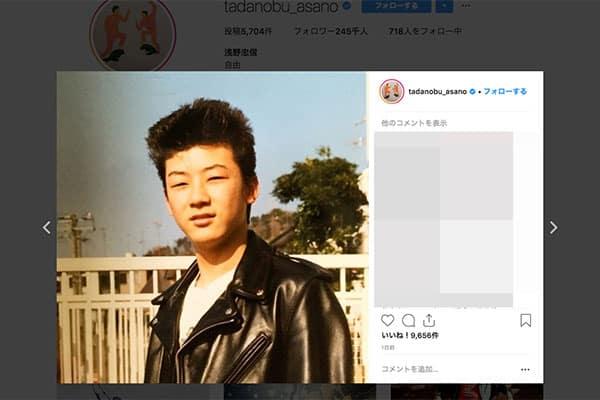 浅野忠信、若き日の髪を逆立てたパンキッシュ写真公開