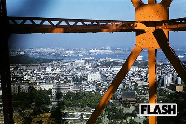 秘蔵カラー写真で見る「60年前の日本」東京タワーの上から