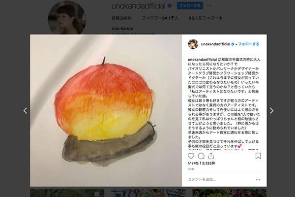 神田うの、7歳の娘が描いた絵を公開「アート教室に通わせる」