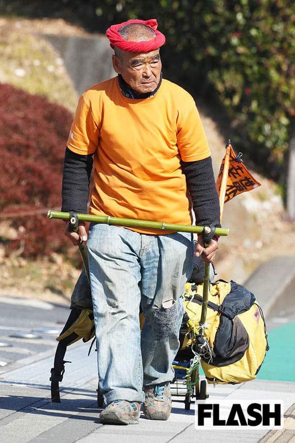 スーパーボランティア「尾畠春夫さん」1100km徒歩帰宅中