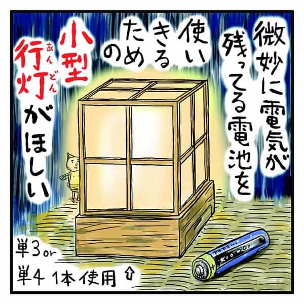 ヘッドライトで読書「吉田戦車」電池はやっぱり単三でしょ