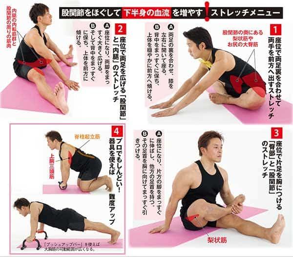 アキラ100%の「中折れ防止体操」下半身の血流を増やすには