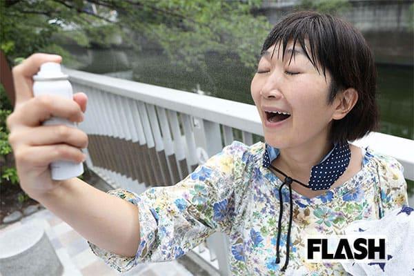 たんぽぽ川村に学ぶ「熱中症対策」化粧水スプレーでセクシーに(笑)