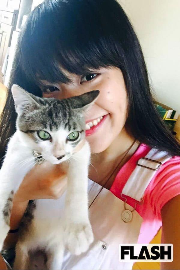 大城美友が愛猫を語る「母の太腿がお気に入りで(笑)」