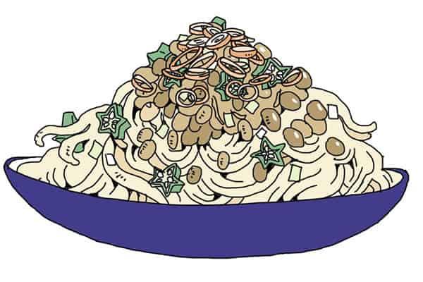 もしも平安貴族が「白滝納豆パスタ」を作ったら…