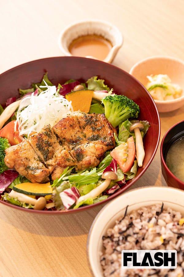 外食チェーンで野菜摂取、定食なら大戸屋のバジルチキンサラダ