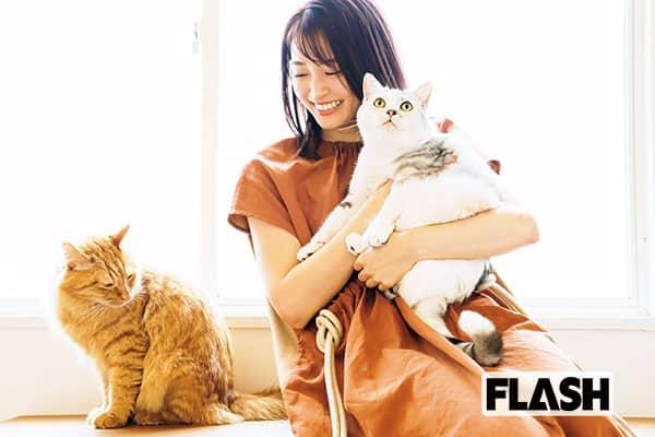 岡本玲、愛猫の喉鳴らしに不安も「ただ気持ちよがってた(笑)」