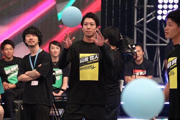 『最強スポーツ統一戦』山田哲人がラグビー選手のデカさに驚く