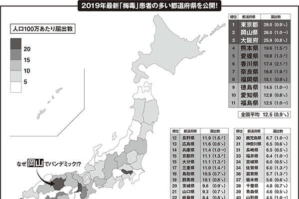 風俗に厳しい岡山で「梅毒激増」教育県ゆえの問題が…