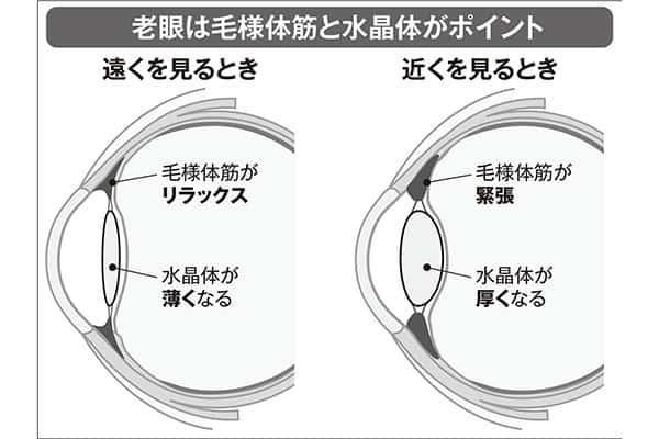 激増する「スマホ老眼」対策は10cm離して画面を見ることから