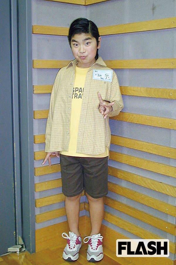 『あっぱれさんま大先生』に出演していた10歳当時。じつは、当初受けたオーディションには落ち、ゲストとして呼ばれるうちに、いつの間にかレギュラーになっていた