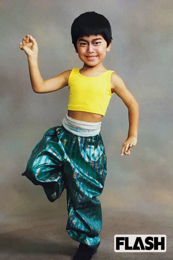 7歳当時。5歳で始めたダンスレッスンは、18歳まで続けた