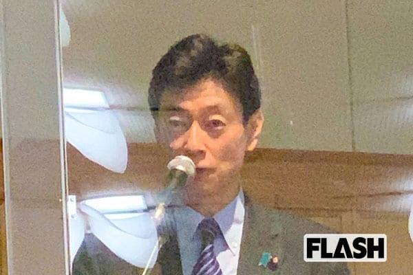 "GoTo総裁選!西村康稔コロナ担当相みずから""3密""パーティ"
