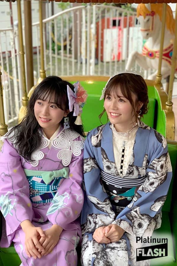 AKB48坂口渚沙、込山榛香【オフショット】Platinum FLASH Vol.13