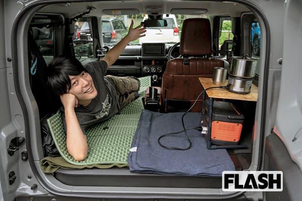 うしろシティ阿諏訪の愛車「ジムニー」お金より工夫の車中泊DIY