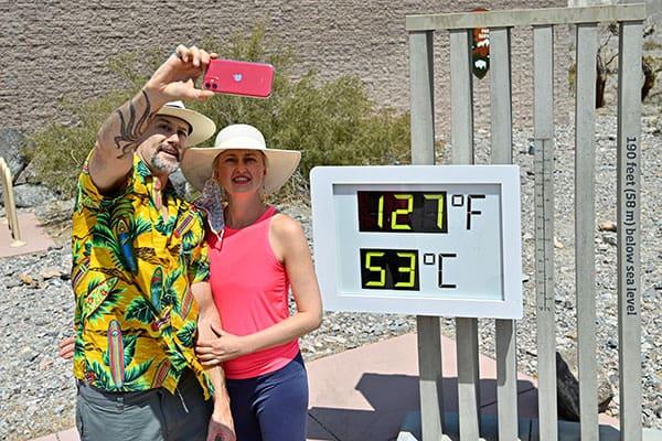 最高気温54度を記録したカリフォルニアに、いきなり降雪予報