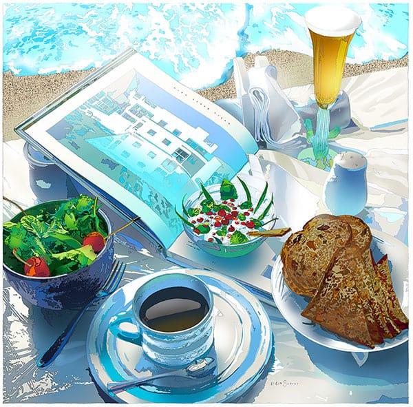 イラストレーター・鈴木英人、「ビーチブランチ」は理想のお昼ご飯