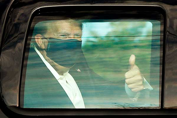 トランプ大統領コロナ感染「治療内容」「感染ルート」は…
