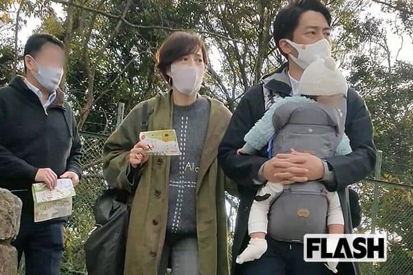 小泉進次郎&滝川クリステル、0歳長男に「この子は観察力がすごい!」親バカ動物園デート